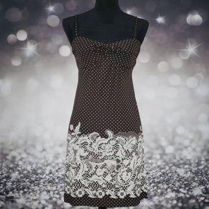Polka Dot Paisley Pattern Dress